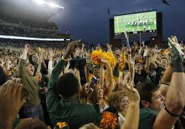 Was Baylor rushing the field in a game in which they were favored too much?