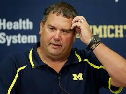 Michigan coach Brady Hoke was doing a lot of head scratching during an underwhelming 2014 season
